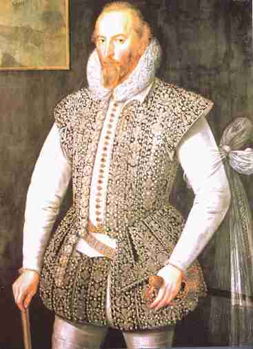 Sir Walter Raleigh wearing the White Scarf